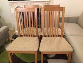 4 dining chairs from Roomes