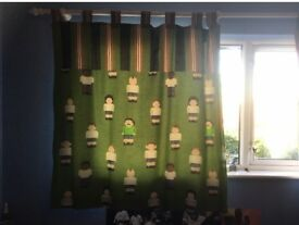 Football Player Print Curtains