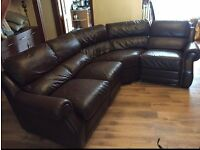 Corner, Lshape, brown leather sofa