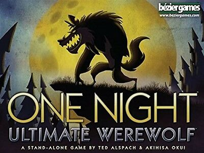 One Night Ultimate Werewolf Board Game, New, Free Shipping