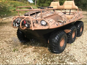 2016 ARGO 6x6 SCOUT CAMO SOLD WITH OR WITHOUT 6X12 TRAILER