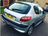 Peugeot 206 DIESEL 1.4 engine 12month tax 6Month mot lady owner