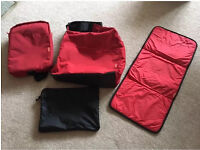 Phil and Teds Diddie Changing Bag + Mini Diddie Bag (red)