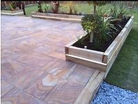 Rainbow Sandstone Paving Slabs Patio Paving £18m2