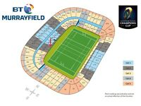 2 x Tickets for Champions Cup Final at Murrayfield, Edinburgh