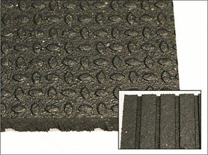 "Top Quality 4' x 6' x 3/4"" Revulcanized Rubber Mats"