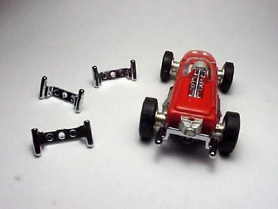 MODEL MOTORING T-JET BRM McLAREN FORMULA F1 CHROME LOWER EXHAUST PIPES.  - Brm Formula