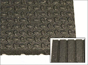 "NEW! 4' x 6' x 3/4"" Rubber Gym Flooring"