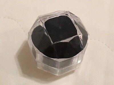 Ringschachtel Box Ringetui Schmuckkästchen Kunststoff Schwarz Transparent NEU