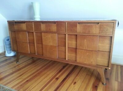 vintage Basic Witz mid century modern furniture set - chest, dresser and mirror