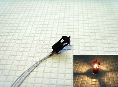 S114 - 5 Stück Straßenlampen für Gartenwege auf Mauern Wege + Plätze 1,2cm hoch