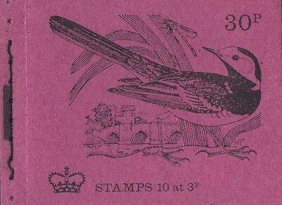GB QEII April 1972 Booklet DQ63 - British Birds No.4 - 30p