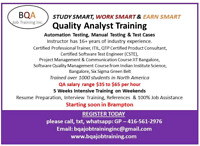 QUALITY SOFTWARE INSTRUCTOR NEEDED FOR WEEKENDS IN BRAMPTON