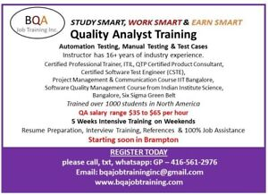 QA SOFTWARE TESTING COURSE STARTING SOON IN BRAMPTON