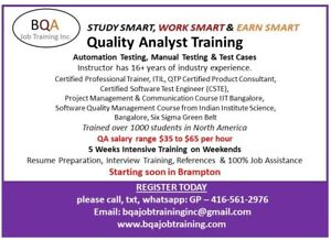 QA SOFTWARE TESTING MANUAL & AUTOMATION COURSE IN BRAMPTON