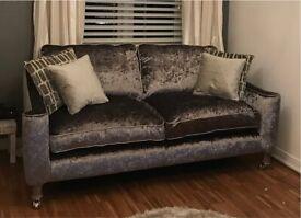 Velvet Grey Pewter Large 2 seater sofa
