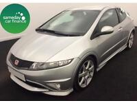 £155.10 PER MONTH SILVER 2008 HONDA CIVIC 2.0i VTEC TYPE R GT PETROL MANUAL