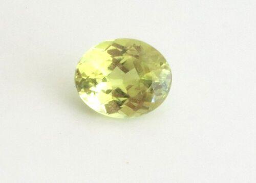 1.50 carat NATURAL CHRYSOBERYL UNTREATED TRANSPARENT CANARY YELLOW OVAL VVS