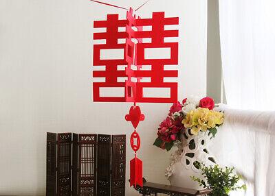 Chinese Double Happiness Wedding Hang Lantern Decoration paper cut Double Happiness Wedding