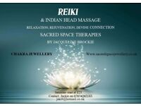"Reiki Healing and Indian Head massage ......"" Sacred Space "" Therapies"