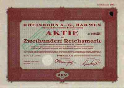 Rheinborn Barmen Köln 1926 Sumatra Borneo Sibolga Indien 200 RM Siantar Sidempoe