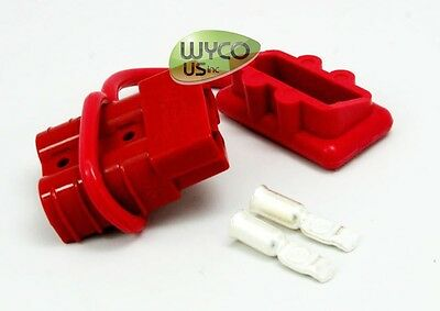 ANDERSON CONNECTOR/CONTACTS/DUST COVER SET, #6AWG, 50A, SMALL RED, WINCHES, ATV