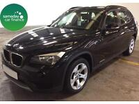 £288.97 PER MONTH BLACK 2012 BMW X1 2.0 X Drive 20D SE ESTATE DIESEL MANUAL