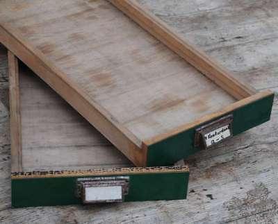 2x Original Schublade Steckschriftkasten Druckerei Holzschublade Holz Druckerei