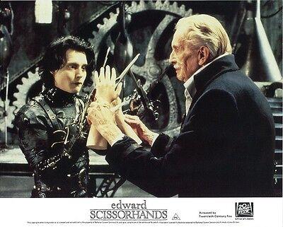 Edward Scissorhands  lobby card - Johnny Depp, Vincent Price - 8 x 10 inches