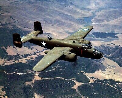 USAF North American B-25C Mitchell Bomber in flight 8x10 WWII WW2 Photo 76