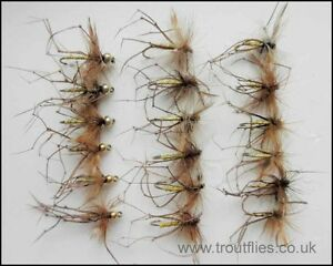 18-Daddy-Long-Legs-Trout-Fly-Fishing-Flies-Goldhead-and-Normal-Mixed-Pack