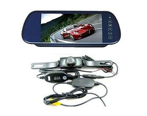 7-Car-LCD-Monitor-Mirror-Wireless-IR-Reverse-Car-Rear-View-Backup-Camera-Kit