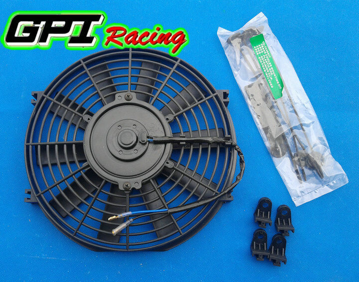 High Performance BLUE 16inch Thermo Fan Electric Fan Kit 250watt 12volt 12v