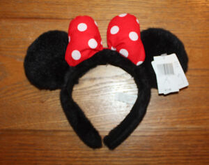 Disney head gear for Ladies Minnie ears new, park hats used