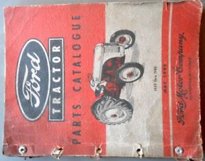Ford Tractor Parts Catalog 1939-49 - Rare