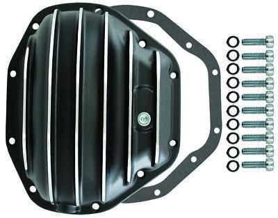 Dana 80 10 Bolt Rear Finned Black Aluminium Differential Cover Ford Super SD DRW