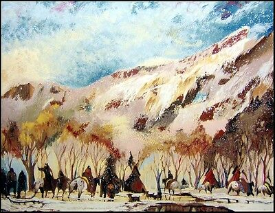"Earl Biss ""Red Lodge With The Melting Of the Spring Snow"" Limited Ed Silkscreen  for sale  Aurora"