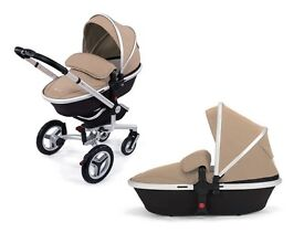 SILVER CROSS SURF PRAM AND CARRY COT BEIGE