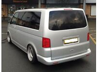 Vw Transporter T5 deep dish steel wheels, banded, 17inch staggered