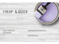 CHEAP & QUICK & CLEAN PAINTERS From £50 / ROOM PAINTS INCLUDED PAINTING ONLY full masking