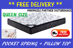 FREE DELIVERY Brand New Pocket Spring Pillow Top Mattress New Farm Brisbane North East Preview