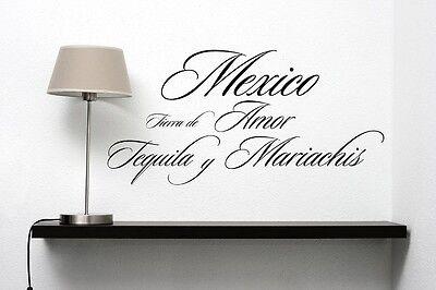 Mexico Tierra de Amor spanish vinyl wall decal quote sticker home decoration - Mexico Decoration