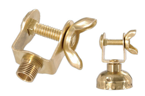 BRASS PLATED ~ BRIDGE ARM SWIVEL BRACKET ~ Socket Cap Adapter ~ #GB150