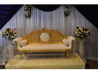 Wedding Stage Throne Chaise Sofa from £300 Hire ONLY