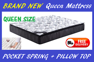QUEEN Size Pocket Spring + Pillow Top Mattress BRAND NEW New Farm Brisbane North East Preview