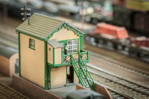 Mit Spur H0 Gebäuden von der Gleisanlage zur Kleinstadt