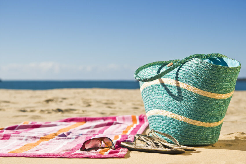 How To Turn A Beach Towel Into A Beach Tote