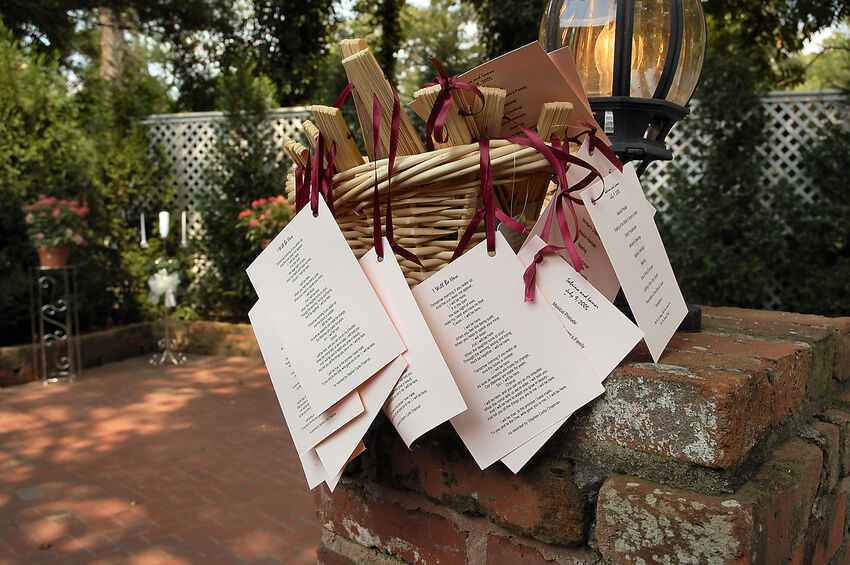 How To Make Wedding Programs