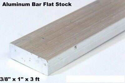 Aluminum Bar Flat Stock 38 X 1 X 3 Ft Mil Finish Alloy 6061 36 Length