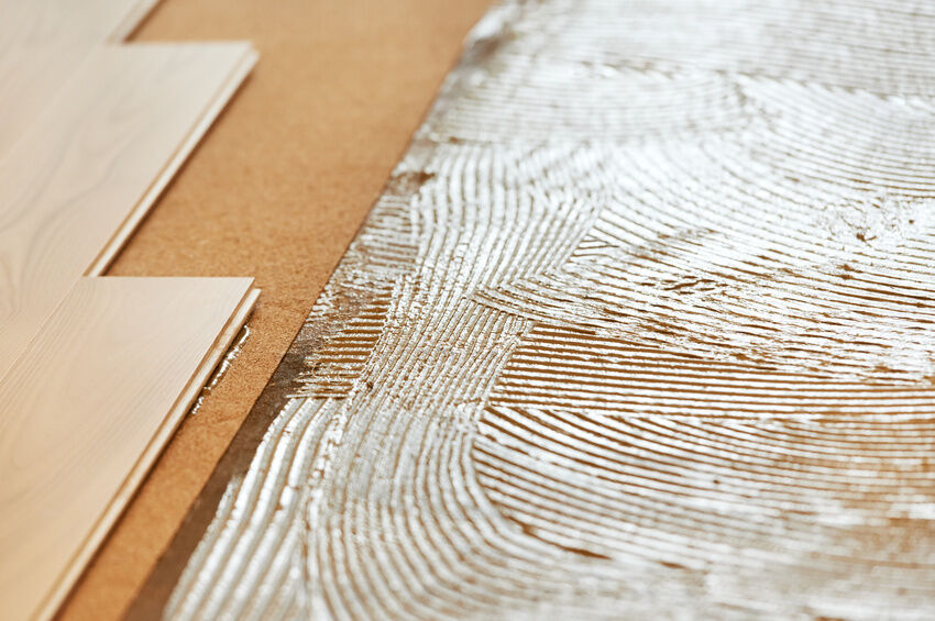 Can you glue down laminate flooring for Down floor